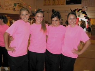 Pacific Grove High School Breaker Girls in neon pink T-shirts, 3rd photo