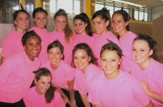 Pacific Grove High School Breaker Girls in neon pink T-shirts, 2nd photo