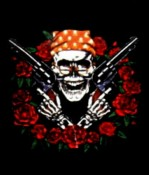 Roses and Guns imprinted T-shirt and/or sweatshirt