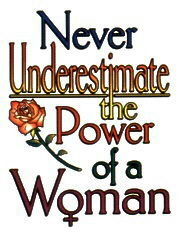 Woman Power imprinted design for white T-shirts and sweatshirts